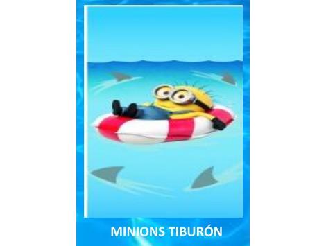 Toalla Playa Minions Tiburón